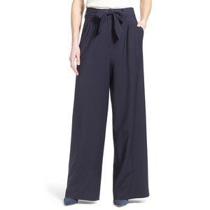 NWT Olivia Palermo Chelsea28 wool wide leg pants
